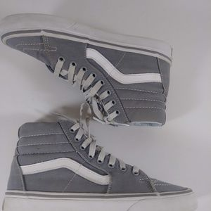 VANS Old Skool Gray/Grey Canvas Mid Top Skate Shoe